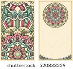 set of wedding invitations or... | Shutterstock .eps vector #520833229