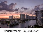sunset on high rise condos in... | Shutterstock . vector #520833769