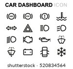 vector line car dashboard icons ... | Shutterstock .eps vector #520834564