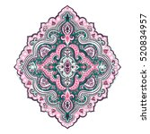 indian floral paisley medallion ...   Shutterstock .eps vector #520834957