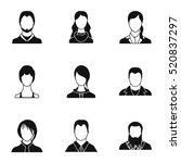 avatar people icons set. simple ... | Shutterstock .eps vector #520837297