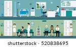 examination rooms where doctors ... | Shutterstock .eps vector #520838695