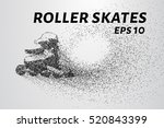 roller skates of the particles. ... | Shutterstock .eps vector #520843399
