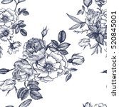 vintage vector floral seamless... | Shutterstock .eps vector #520845001