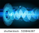 blue abstract hi speed internet ...   Shutterstock .eps vector #520846387