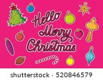 set new year patches elements ... | Shutterstock .eps vector #520846579