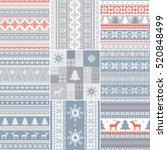 set of traditional christmas...   Shutterstock .eps vector #520848499
