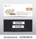 banner black friday element... | Shutterstock .eps vector #520848829