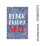black friday jeans sale tag.... | Shutterstock .eps vector #520853371