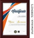 certificate template letter... | Shutterstock .eps vector #520854271