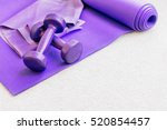 fitness yoga pilates equipment... | Shutterstock . vector #520854457