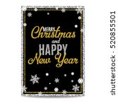 merry christmas greeting card.... | Shutterstock .eps vector #520855501