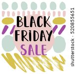 black friday sale promotional... | Shutterstock .eps vector #520855651