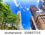 buildings of new york city ... | Shutterstock . vector #520857715