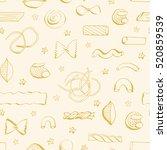 hand drawn seamless pattern... | Shutterstock .eps vector #520859539