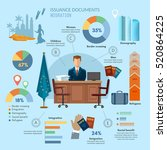 refugees infographic  social... | Shutterstock .eps vector #520864225