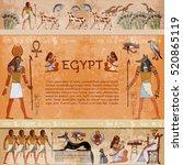 Ancient Egypt. Hieroglyphic...
