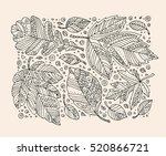 forest wild leaves. happy...   Shutterstock .eps vector #520866721