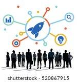 ideas fresh brainstorming... | Shutterstock . vector #520867915