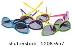 Hip summer sunglasses isolated on white with a clipping path. - stock photo