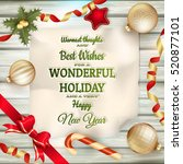 holidays greeting and christmas ... | Shutterstock .eps vector #520877101