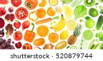 background of fruits and...   Shutterstock . vector #520879744