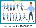 big set of businessman... | Shutterstock .eps vector #520881229