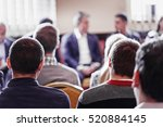 business conference and... | Shutterstock . vector #520884145