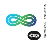 infinity knot with two parallel ... | Shutterstock .eps vector #520884625
