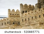 ancient castle palace in baku.... | Shutterstock . vector #520885771