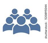 people icon vector flat design... | Shutterstock .eps vector #520895044