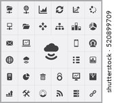 big data  database icons... | Shutterstock .eps vector #520899709
