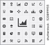 chart icon. big data  database... | Shutterstock .eps vector #520899955