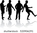 silhouette of a man. | Shutterstock .eps vector #520906291