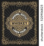 retro logo for whiskey or other ... | Shutterstock .eps vector #520906825