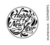 happy new year text design... | Shutterstock .eps vector #520908991