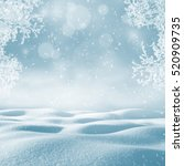 winter background. christmas... | Shutterstock . vector #520909735