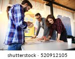 group of young business people... | Shutterstock . vector #520912105