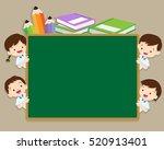 back to school illustration... | Shutterstock .eps vector #520913401