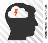 brainstorming vector pictogram. ... | Shutterstock .eps vector #520914685