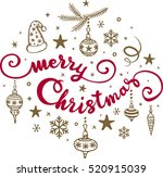 christmas calligraphy....   Shutterstock .eps vector #520915039