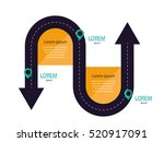 arrows double tail road with... | Shutterstock .eps vector #520917091