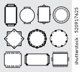 various of frame shapes for... | Shutterstock .eps vector #520917625