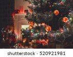 christmas living room... | Shutterstock . vector #520921981