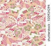 tracery seamless calming... | Shutterstock . vector #520924294
