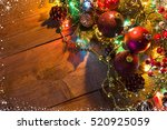 christmas and new year... | Shutterstock . vector #520925059