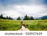 woman backpacker enjoy the view ... | Shutterstock . vector #520927639