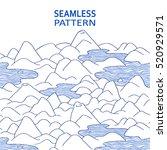 landscape pattern. vector... | Shutterstock .eps vector #520929571