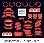 vector collection of decorative ... | Shutterstock .eps vector #520930075