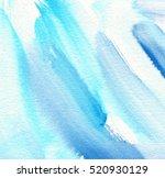 indigo blue white watercolor... | Shutterstock . vector #520930129
